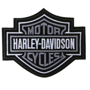 Harley-Davidson ezüst B&S felvarró