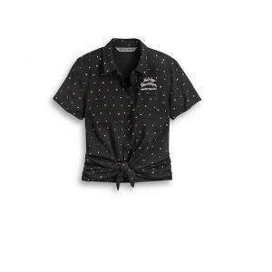Harley-Davidson apró mintás női elöl megkötős ing
