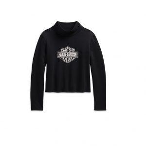 Harley-Davidson Logo crop női magas nyakú pulóver