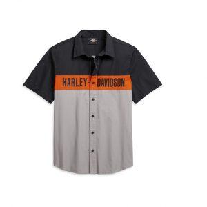 Harley-Davidson colorblock férfi rövid ujjú ing