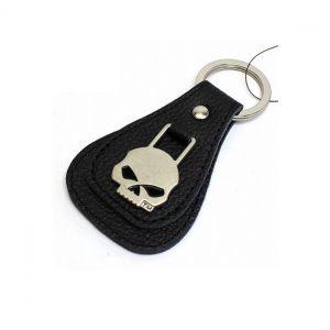 Halálfejes kulcstartó