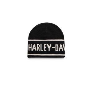 Harley-Davidson fekete-fehér kötött női sapka