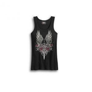 Harley-Davidson Dagger & Roses női top