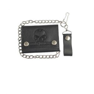 Harley-Davidson skull logo láncos pénztárca