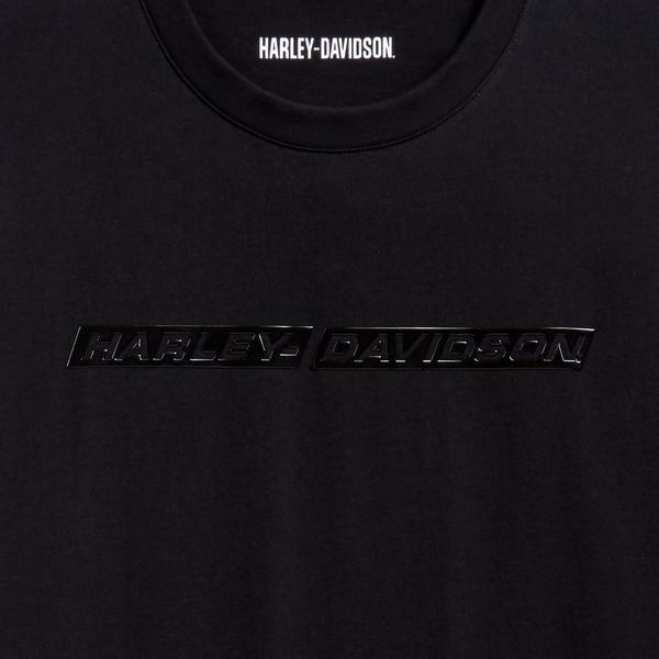 Harley-Davidson fényes feliratú férfi rövid ujjú póló