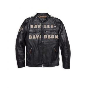 Harley-Davidson vintage race-inspired férfi bőrdzseki