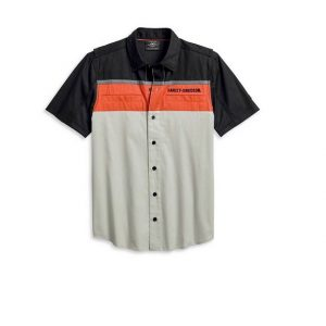 Harley-Davidson Performance Colorblock ventilált férfi rövid ujjú ing