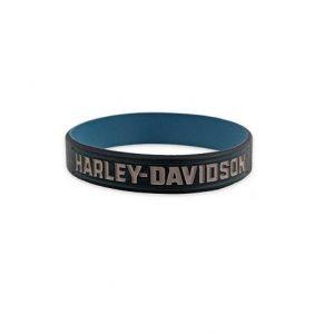 Harley-Davidson Blue szilikon karkötő