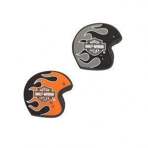 Harley-Davidson Flaming helmets mágnes szett