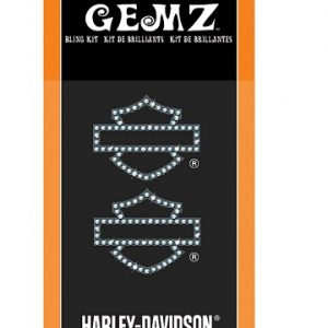 Harley-Davidson Silhouette Bar & Shield Gemz Bling matrica