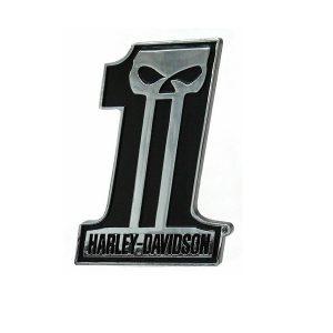 Harley-Davidson #1 Skull Dark Custom 3D króm matrica