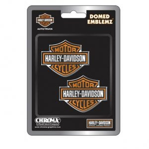 Harley-DavidsonOrange Bar & Shield Emblemz domború matrica