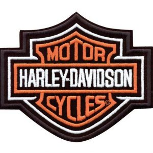Harley-Davidson Orange Bar & Shield felvarró