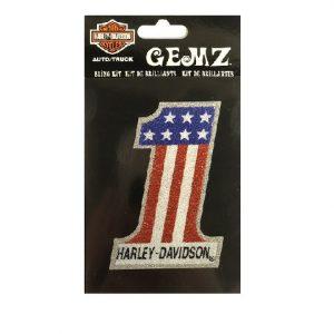 Harley-Davidson american #1 glitteres matrica
