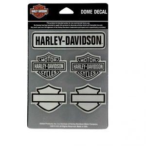 Harley-Davidson ezüst domború matrica