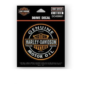 Harley-Davidson Motor Oil Bar & Shield domború matrica