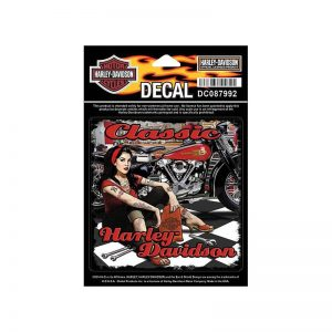 Harley-Davidson pin up mechanic matrica