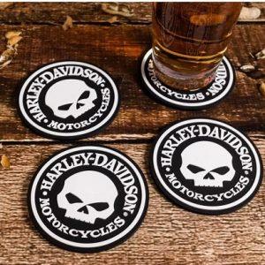 Harley-Davidson Skull Poháralátét szett