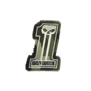 Harley-Davidson Dark Custom Camo #1 Skull felvarró