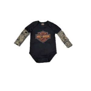 Harley-Davidson B&S mesh tattoo fiú body