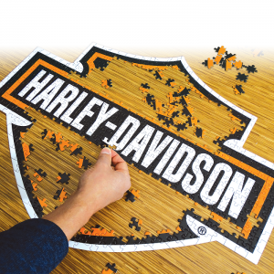 Harley-Davidson Bar&Shield alakú puzzle