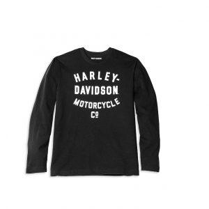 Harley-Davidson Racer Motorcycle Co. B&W férfi hosszú ujjú póló