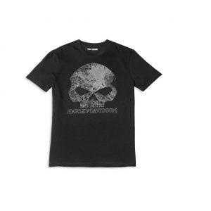 Harley-Davidson Milwaukee Map Skull férfi rövid ujjú póló