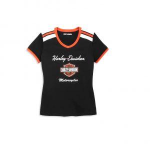 Harley-Davidson iconic női v-nyakú rövid ujjú póló
