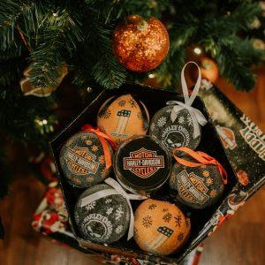 Harley-Davidson LED karácsonyfadísz 6 db-os szett