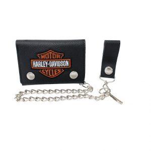 Harley-Davidson B&S hímzett biker pénztárca
