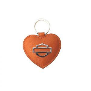 Harley-Davidson Heart B&S kulcstartó/táskadísz